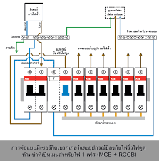 วงจรก นด ด เด นสายไฟ ต ดต งก นด ด 1 เฟส wiring diagram rcd rccb