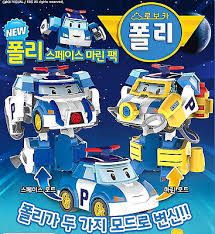 academy robocar poli space marine pack transformer robot car toy
