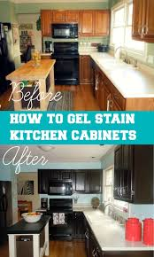Kitchen Cabinets Redone by Confessions Of A Semi Domesticated Mama How To Gel Stain Your