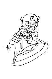 chibi captain america coloring pages coloring