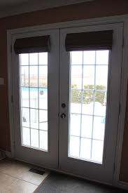 exterior door with blinds between glass blinds for french doors 2017 grasscloth wallpaper