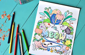 lazy cats coloring book review and more coloring 101
