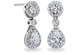teardrop diamond earrings teardrop earrings with pear shaped diamonds in 18kt