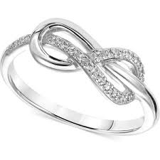 knot promise ring diamond accent infinity knot promise ring in sterling silver