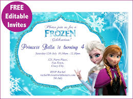 frozen free printable invitations templates cakes pinterest