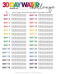 How To Do Challenge Water Printable Water Tracker Free Printable Included