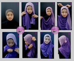 tutorial jilbab dua jilbab 83 gambar lengkap tutorial hijab pashmina dua warna paling lengkap