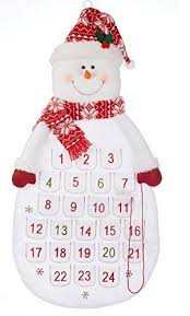 delton products felt snowman countdown fabric advent
