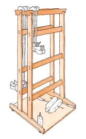 Wood Storage Rack Plans by Download A Free Project Plan For A Krenovian Clamp Rack On Wheels
