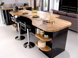 cuisine laqué noir cuisine noir et bois