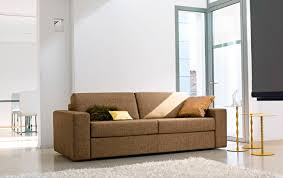 sofa bed contemporary leather fabric alice by peter ross