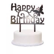 happy birthday cake topper acrylic black butterfly happy birthday cake topper