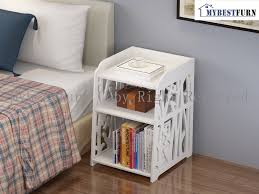 Cabinet End Table Aliexpress Com Buy Mybestfurn White Open Shelf Cabinet Carved