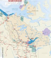 Canada Highway Map by Nw Territories Travel Guide