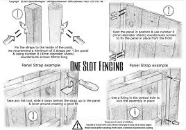 one slot fencing set of 24 fence panel straps fix timber
