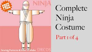Sewing Pattern Ninja Costume   japanese sewing patterns ninja costume cosplay sewing pattern part 1
