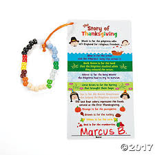 thanksgiving bracelet with card craft kit trading