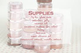lip gloss diy and printable labels