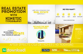 real estate promotion with kinetic typography videohive