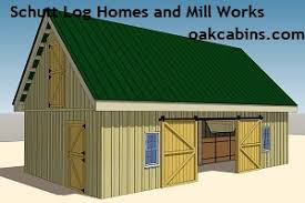 Barn Kits California 20 X 30 U0027 Horse Barn Kit Schutt Log Homes And Mill Works Barn