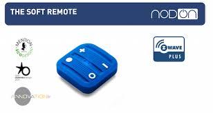 z wave light remote control nodon soft remote light blue nodecrc3606 wireless z wave remote