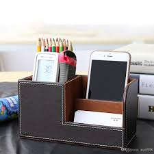 desk pen organizer online plastic pen holder desk organizer for sale multifunctional leather office desk organizer desktop stationery storage box collection business card pen pencil mobile phone holder