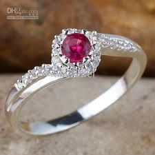 silver rings price images Women red ruby wedding band silver ring size 8 wed j8072 factory jpg