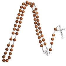bead cross pendant necklace images Ningxiang catholic rosary wood beads jesus cross pendant necklace jpg