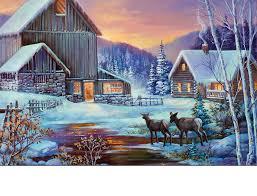 winter cabin outdoor winter cabin insert doormat 18x30