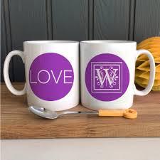 personalized initial with u201clove u201d coffee mug