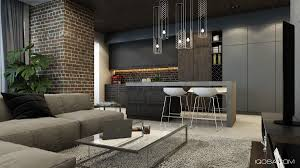 Fake Exposed Brick Wall Design A Chic Modern Space Around A Brick Accent Wall