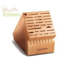 knife blocks wusthof 35 slot knife storage block beechwood 7235 1