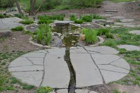 garden design with backyard patio and water feature installation