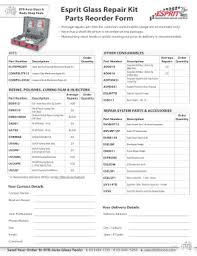 Auto Collision Repair Estimate by Printable Auto Repair Estimate Forms Free Fill Out