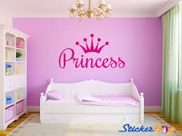 Large Crown Wall Decor Princess Crown Girls Nursery Room Vinyl Wall Decal Large Bedroom Decor