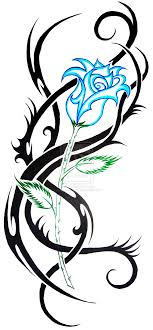 tribal blue tattoos exciting ideas blue