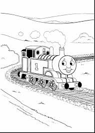brilliant winter landscape coloring pages with thomas the tank