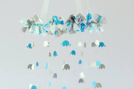 elephant centerpieces for baby shower blue gray white elephant nursery mobile decor baby shower gift