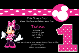 tips easy to create minnie mouse birthday invitations ideas