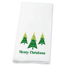 merry christmas trees disposable towels christmas decor