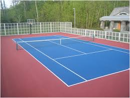 Build A Basketball Court In Backyard Backyards Tennis Court In Backyard Backyard Furniture How Much