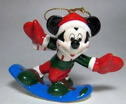 wonderful winterland mickey mouse on snowboard ornament from our