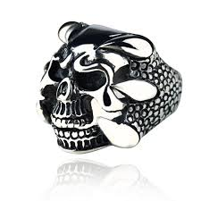 male rings design images Punk dragon claw skull design men rings antique silver skeleton jpg