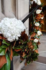 magnolia leaf garland ceremony décor photos magnolia leaf garland hydrangeas