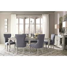 dining upholstered side chair with silver finish legs by signature