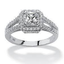 White Gold Cz Wedding Rings by Princess Cut Cubic Zirconia Engagement Rings White Gold 8992