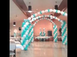 Decorations For Sweet 16 Sweet 16 Balloon Decorations Youtube