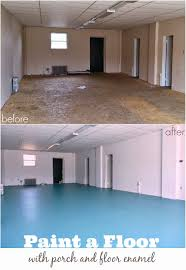 diy painted particle board floor mmmm teal dans le lakehouse
