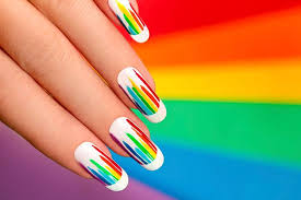 65 funkiest stripe nail art ideas to sport the cool look