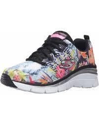 Skechers Comfort Construction Deal Alert 12708 Navy Flower Skechers Shoe New Women Memory Foam